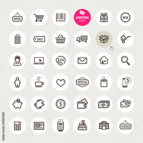 Set of shopping icons