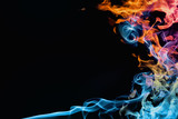 Fire and smoke. Abstract background