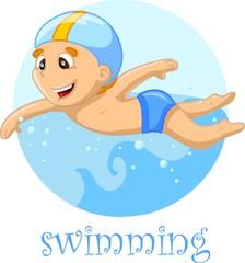 Пловец мультфильм характер