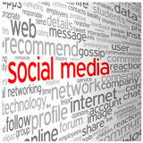SOCIAL MEDIA tag cloud (networking follow friends blog)