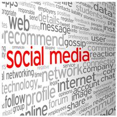 SOCIAL MEDIA tag cloud (networking follow friends blog)