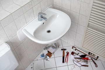 refurbishment of the bathroom