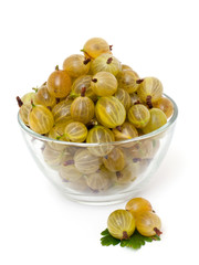 gooseberry in a glass bowl