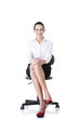 Businesswoman sitting on ofice chair