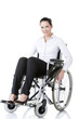 Attractive smiling disabled businesswoman