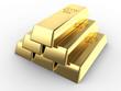 golden bricks stack