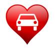 Herz mit Auto