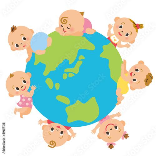 地球と赤ちゃん