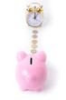 piggy bank clock