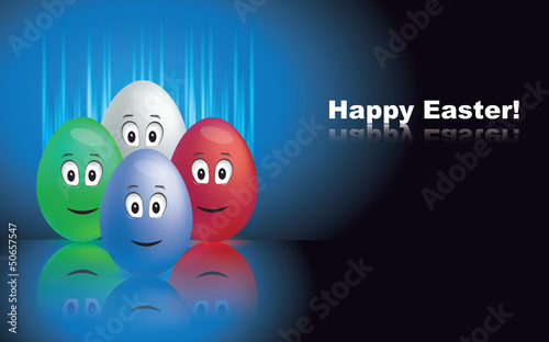 Vector easter greetings card