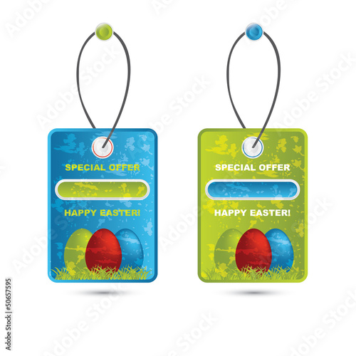 Vector modern easter price tag