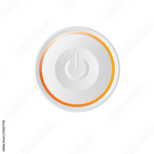 Vector modern white ON - OFF Power button