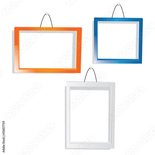 Vector color frame set on wall
