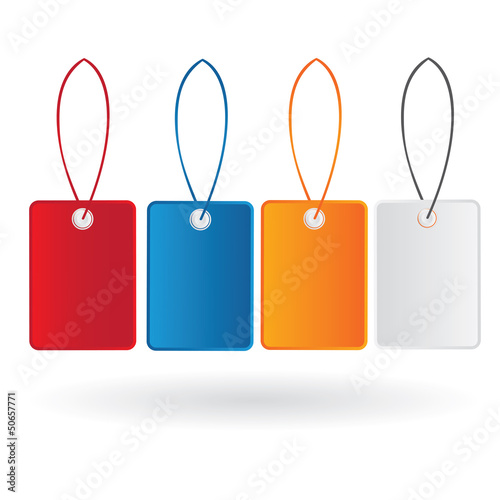 Vector color price tag set