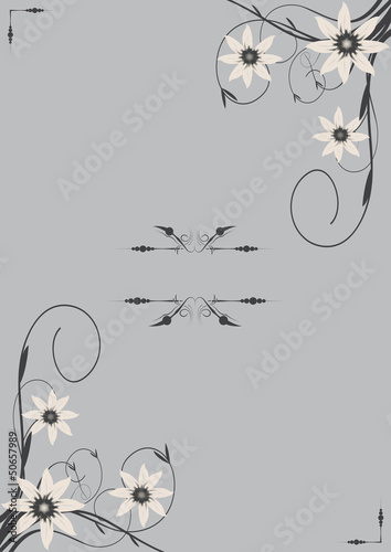 Vector floral wedding invitation card