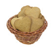Ginger snap cookies in basket