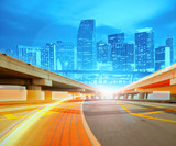 Fototapety Abstract Illustration of urban highway going to the modern city