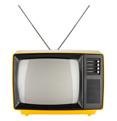 yellow retro tv