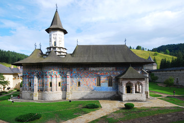 Sucevita monastery church, Southern Bukovina, Romania