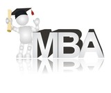 3D people - MBA diploma poster