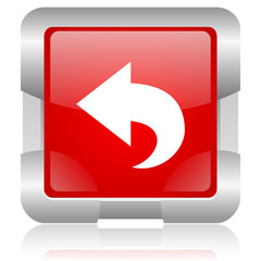 back red square web glossy icon