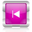 prev pink square web glossy icon