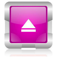 network pink square web glossy icon