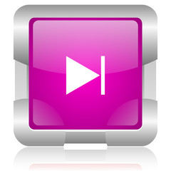 next pink square web glossy icon