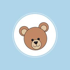 Teddy Karte hellblau