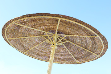 Parasol and blue sky