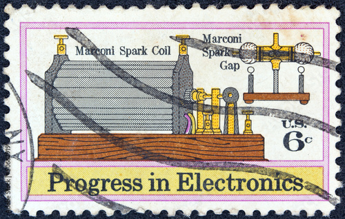 Poster Marconi's Spark Coil and Gap (1901) (USA 1973)