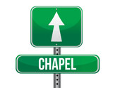 chapel road sign