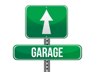 garage road sign