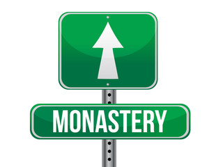 monastery road sign