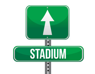 stadium road sign