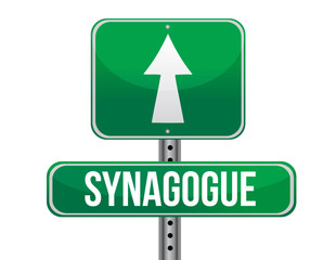 synagogue road sign