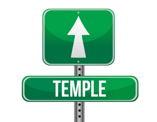 temple road sign