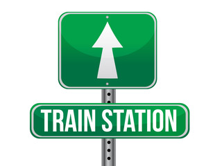 train station road sign