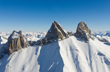 Aiguilles d'Arves - 3514 m- Vue aérienne (Alpes-France)