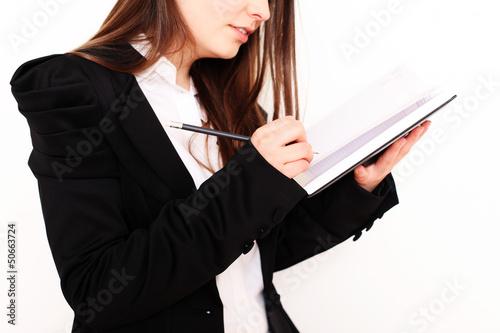 Mädchen mit Terminkalender