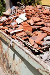 Bauschutt auf einer Baustelle