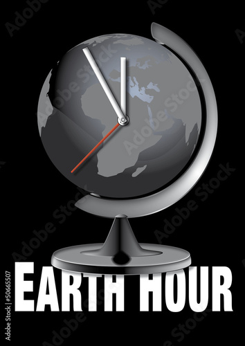 Globus im Ständer, Uhr, global, Erde, Erdball, Business, Geogra