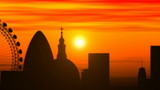 London skyline, timelapse sunset
