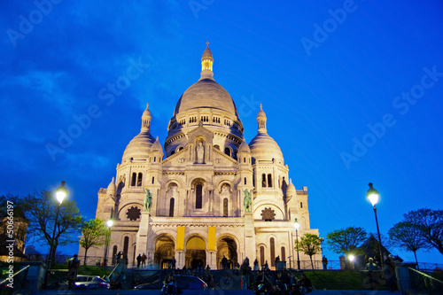 Paris. Sacre Coeur am Montmartre