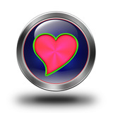 Red heart glossy icon
