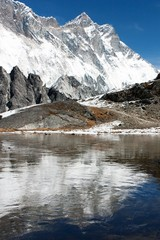 view of southern face of lhotse and nuptse