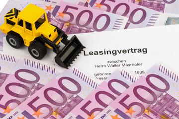 Leasingvertrag für neuen Bagger
