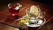 cup tea and tea bag