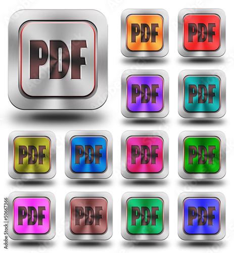 PDF aluminum glossy icons, crazy colors