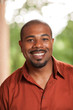 Happy smiling African American man portrait